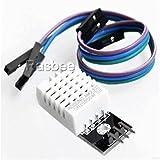 DHT22/AM2302 ディジタル温度/湿度センサーモジュール arduinoのための 温度/湿度センサー ケーブル付き 1個 [並行輸入品]