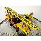 ブリキのおもちゃ 複葉機C・イエロー