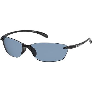 SWANS(スワンズ) サングラス エアレスリーフ 偏光レンズモデル SA-615 BK ブラック/偏光アイスブルー