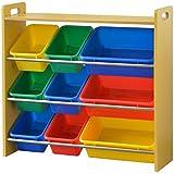ottostyle.jp 天板付き TOY BOX(トイボックス) おもちゃ箱 トイラック 4段タイプ (ナチュラル×カラフルボックス) おもちゃ収納ボックス