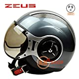バイクヘルメット ZEUS 218C ヘルメット ジェット パイロット PSC付き【商品6/XXLサイズ】