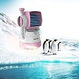 桜Beauty life ロボットUSB扇風機 2016新型 デスクファン 卓上 ミスト冷風扇 羽根なし 小型 クーラー ファン USBファン ミニUSB加湿器ファン 送風角度調整可能 (ピンク)