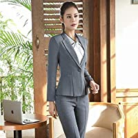 XuBa New Arrival Autumn Winter Long Sleeve Formal Pantsuits with Jackets and Pants for Ladies Professional Blazers Trousers Set