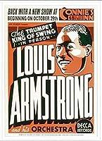 ポスター ルイ アームストロング ルイ アームストロング - Connie\'s Inn NYC、 1935 - 額装品 アルミ製ベーシックフレーム(ホワイト)