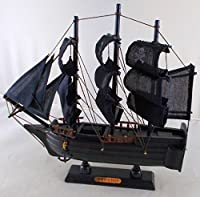 Pirate Ship Wooden Boat Model with Cloth Sails - Fully Assembled [並行輸入品]