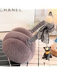 CJC 耳カバー イヤーマフ イヤーマフは暖かい冬の耳の保護のちょう結びの装飾3つの種類の色を保つ (色 : Gray)