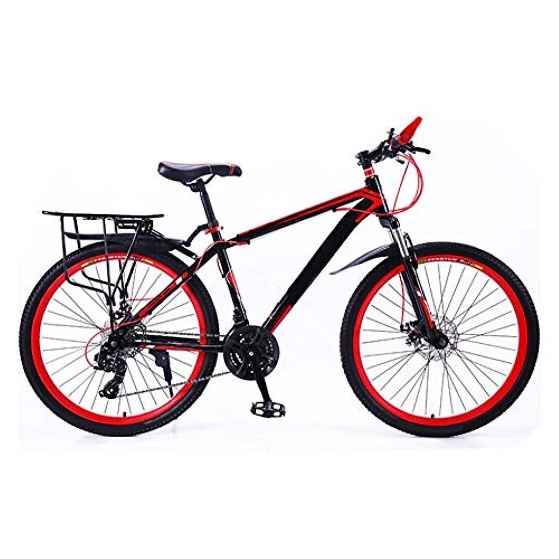 喜劇推進、動かす国籍自転車 マウンテンバイク クロスバイク マウンテンバイク大人の道路の自転車男子MTBバイク24人のスピードホイール用レディースティーン (Color : Red, Size : 26in)