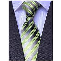 Mens Fashion Striped Ties Jacquard Woven Formal Business Slim Designer Neckties