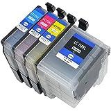 [安心1年保証] 4色セット brother プリンター インク LC119/115-4PK LC119 LC115 互換インク セット ICチップ付 大容量 汎用 インクカートリッジ LC119BK LC115C LC115M LC115Y MFC-J6975CDW MFC-J6973CDW MFC-J6970CDW MFC-J6770CDW MFC-J6573CDW MFC-J6570CDW