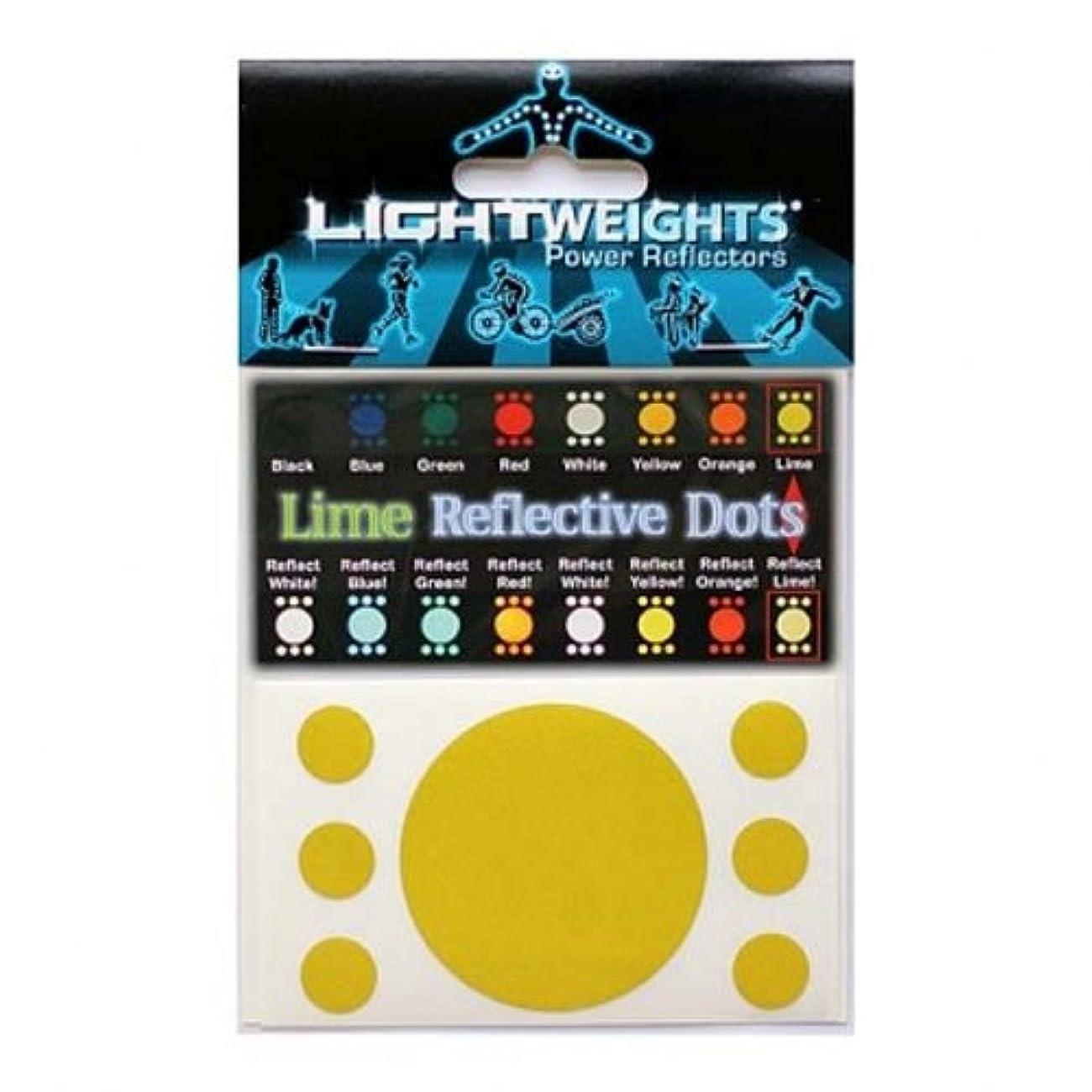 チャペル有限パドルライトウェイツパワーリフレクター Dots 7 ライム