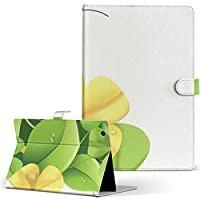 igcase d-01J dtab Compact Huawei ファーウェイ タブレット 手帳型 タブレットケース タブレットカバー カバー レザー ケース 手帳タイプ フリップ ダイアリー 二つ折り 直接貼り付けタイプ 001832 フラワー 花 フラワー 黄色