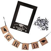 Perfk フォトフレーム 写真フレーム 卒業バナー 紙吹雪 卒業式 卒業パーティー お祝い GRAD ??バナー 装飾 記念写真