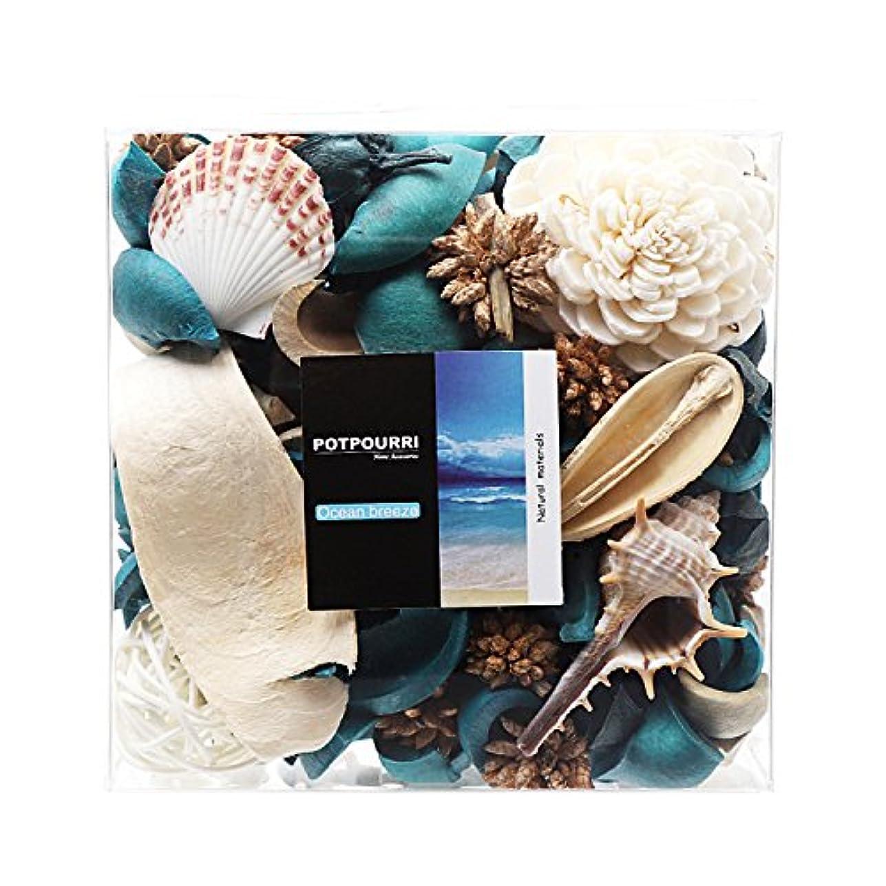 呼吸狂乱議題Qingbei Rina ポプリ 青色 290g 海のポプリ ギフト 手作りの自然素材
