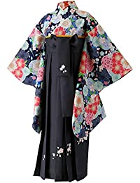 Catherine Cottage 卒業式 卒園式 着付け 簡単 刺繍入り袴 着物 和装セット 女の子 子供服 HAKAST18