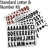 白メッセージボード (314) 4インチ文字、数字、記号付き標準レター&ナンバーキット