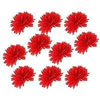 人工 ポンポン 花 華やか ボール ふわふわ 結婚式 パーティー 美しい 装飾 多色選べる - 赤