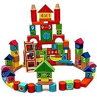 [VIAHART]VIAHART 100 Piece Natural Wood Wooden Block Construction Building Set 854857003468 [並行輸入品]