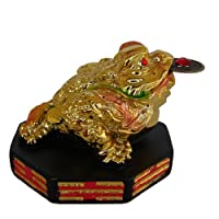 Golden Money Frog on BaGua