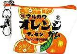 ティーズファクトリー 三角 ミニ ポーチ お菓子 シリーズ マルカワ フーセンガム オレンジ 5×11.5×6.8cm