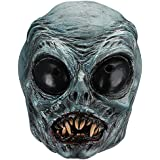 Hautton Halloween Mask, Men's Creepy Scary Mask with Blue Face Latex Mask for Halloween Costume Party