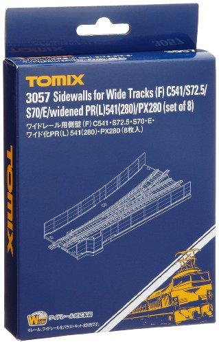 TOMIX Nゲージ 3057 ワイドレール用側壁 (F)C541・S72.5・S70・E・ワイド化PR (L)541 (280)・PX280 (8枚入)
