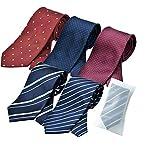 ビジネスマンサポート 洗えるネクタイ 5本セット 洗濯ネット付き p-a2b2c2d2k3