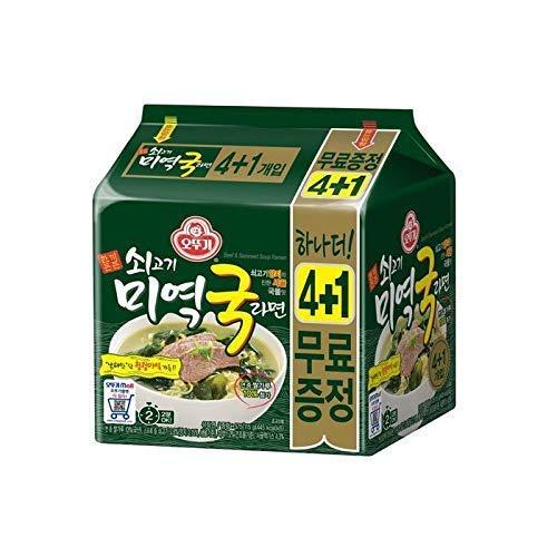 [オットギ] 牛肉ワカメスープラーメン 4+1個入 / 韓国...