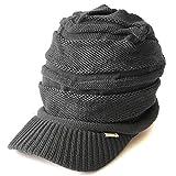 (カジュアルボックス) ニット帽 ゆったりデザイン編みニットキャスケット ユニセックス charm フリーサイズ グレー
