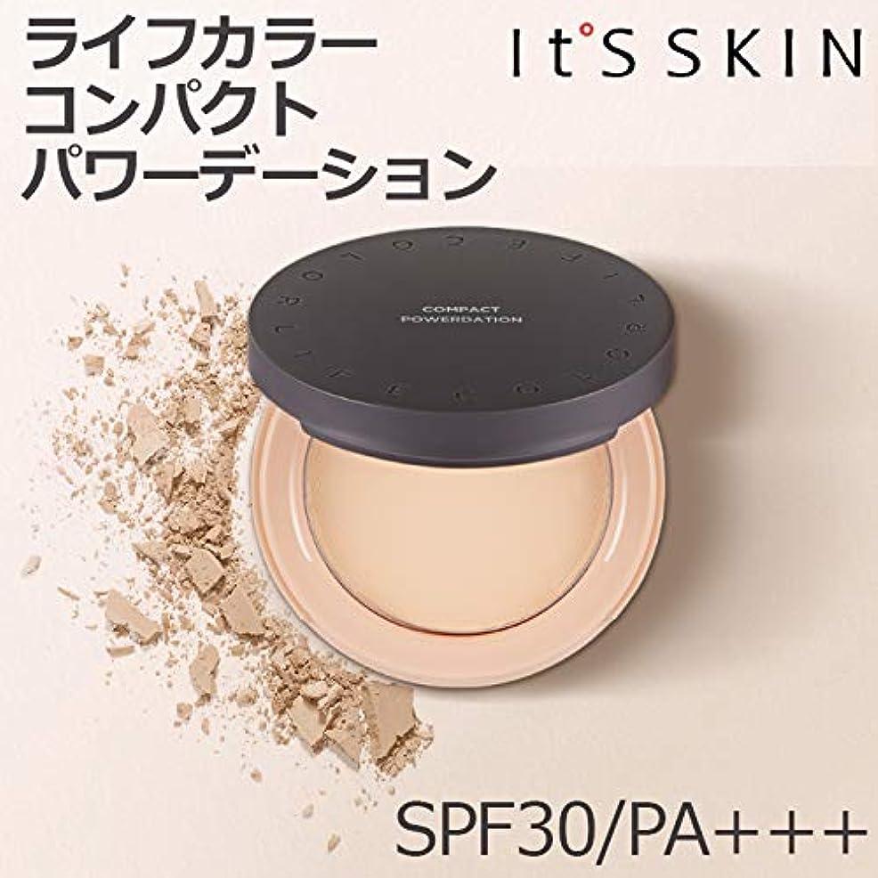 登録擬人化ビジュアルIts skin イッツスキン ライフ カラー コンパクト パワー デーション 13g (2カラー 選択1) 23号 メディウム,パウダー