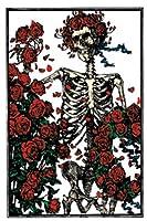 Grateful Dead - Skeleton & Roses Magnet
