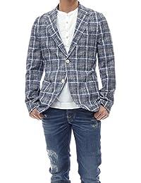 (チルコロ1901)CIRCOLO1901 メンズジャージー素材シングル2Bジャケット CN1850 ブルー [並行輸入品]