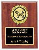 犬Plaque Awards 6x 8木製動物TrophyペットTrophies Free Engraving