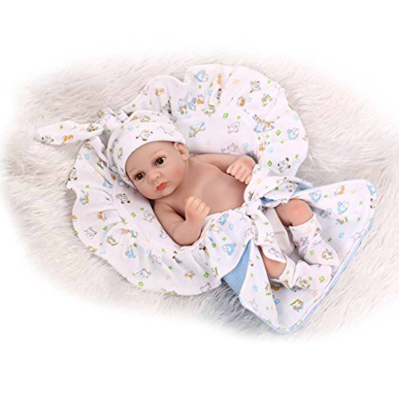 Nicery 生まれ変わった赤ちゃん人形おもちゃハードシミュレーションシリコンビニール10インチ26cm防水おもちゃとギフト Reborn Baby Doll NPK26005B