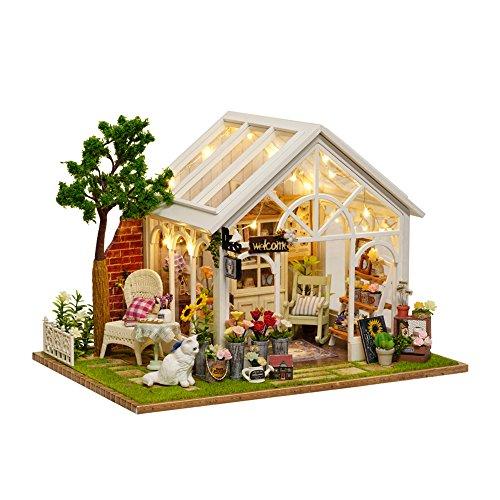GutMai DIY木製ドールハウス、ねこと花の午後、手作り...