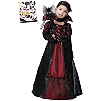 0a20460d98323 Madrugada ヴァンパイア プリンセス ハロウィン タトゥーシール付き 2点セット キッズコスチューム 女の子