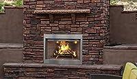 Superior WRE3036WS 屋外用薪燃焼暖炉 36インチ ホワイトスタック屈折パネル