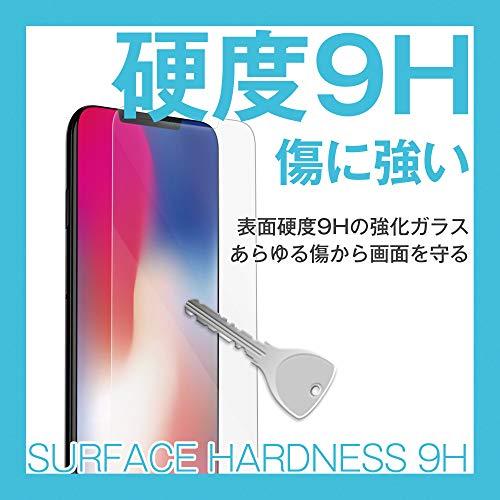 『[BEGALO] iPhone X/Xs 用 ガラスフィルム 0.33mm 硬度9H 日本製素材 飛散防止 指紋防止 高感度タッチ 3Dtouch対応 気泡ゼロ 自己吸着 高透過率 2.5D ラウンドエッジ加工 (iPhoneX/Xs,5.8インチ)』の3枚目の画像