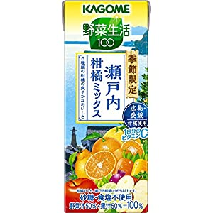 カゴメ 野菜生活100 瀬戸内柑橘ミックス 195ml×24本