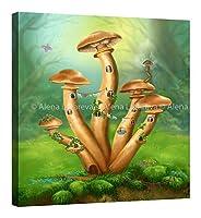 Alena Lazareva–Honey Agaric–ファンタジーアート–Fairy–キャンバス壁アート–Seeサイズオプション 30″ x 33″