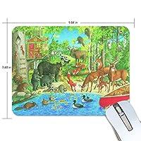 マウスパッド 狐狸 鹿 熊 梟 動物の集まり ゲーミングマウスパッド 滑り止め 19 X 25 厚い 耐久性に優れ おしゃれ