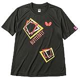 バタフライ(Butterfly) 男女兼用 卓球 キュービック・Tシャツ 45070 ブラック(278) L