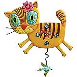 Allen Designs Studios アレンデザイン 掛け時計 キミ キティ 猫 キャッツ オレンジ P1076 [並行輸入品]