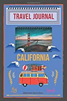 "California Travel Journal Adventure starts: 6"" x 9"" road trip planner lined journal travel planner, hawaiian travel notebook diary, blank book, notebook 100 pages for writing notes, pocket journal"