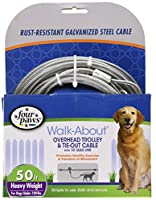 Four Paws Products Heavy Trolley Silver 50 Feet - 84750