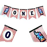 Carnival High Chair Banner - Circus Birthday - ONE Banner - First Birthday - ONE High Chair Banner - 1st Birthday Banner - Party Decorations - Circus Party Supplies - 1st birthday decorations