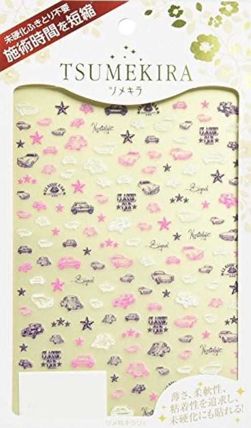 春クリア笑いTSUMEKIRA(ツメキラ) ネイルシール クラシックカー ライン NN-CAR-101 1枚