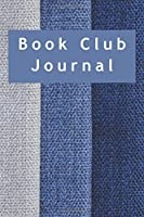 Book Club Journal: Striped undated planner for club meeting, thoughts and discussions