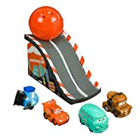 Disney Pixar Cars 2 Squinkies 4 Pack with Ramp Mater Fillmore Guido McQueen by Blip Toys [並行輸入品]