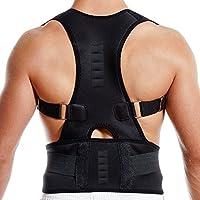 Bluecookies Back Brace Posture Corrector Adjustable for Women & Men Improves Posture Corrector Back Brace Lumbar Support Belts for Upper Back Pain Relief (M: 95cm)