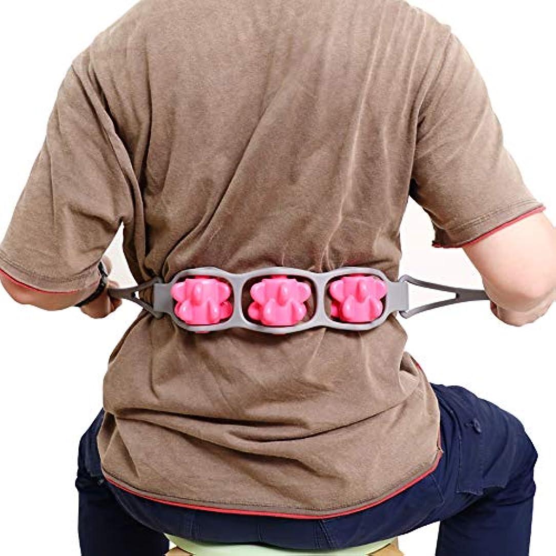 Youmayマッサージローラー 手動的 コロコロ式 ツボ押し 背中 全身的 ボディーローラ 腕 肩こり 首コリ 股関節 ふくらはぎ 太もも 腰 血液循環 ストレス解消 多角度自由に曲がれる 柔らかい 保健用 三点付き ベルト...